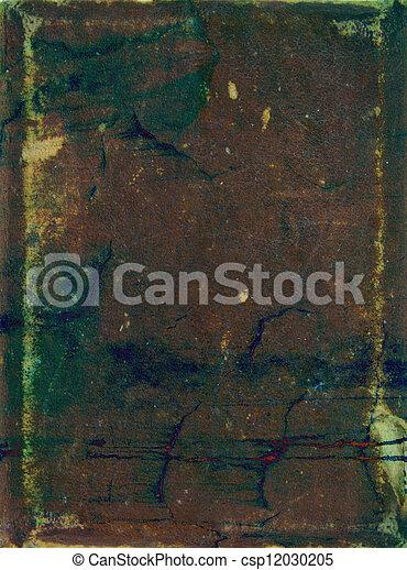 青, ブラウン, 古い, 抽象的, パターン, 黄色, 背景, textured, 緑, 背景, leather: - csp12030205