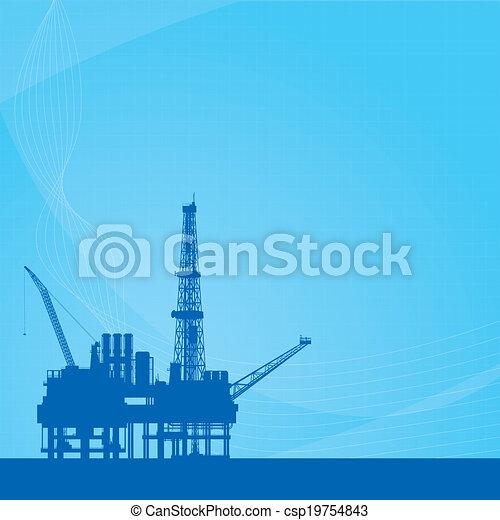 青, プラットホーム, オイル, 背景, ベクトル - csp19754843