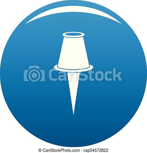 青, ベクトル, デッサン pin, アイコン - csp54572822