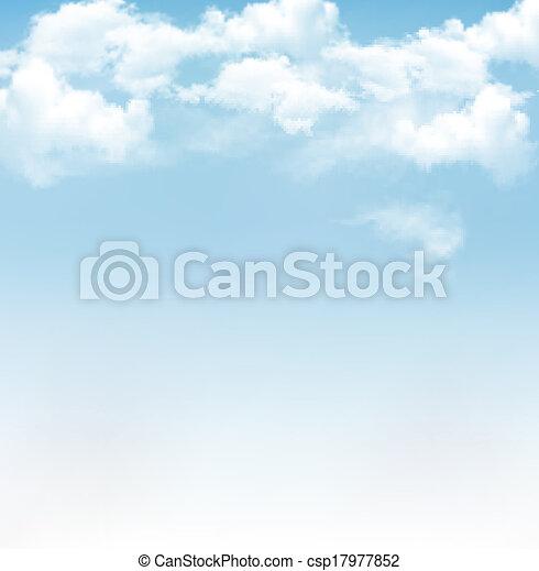 青, ベクトル, 空, 背景, clouds. - csp17977852