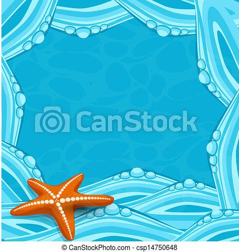 青, ベクトル, 背景 - csp14750648