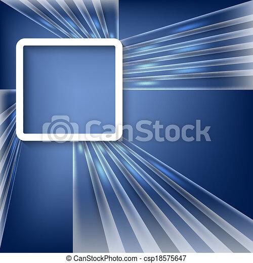 青, ベクトル, 背景 - csp18575647