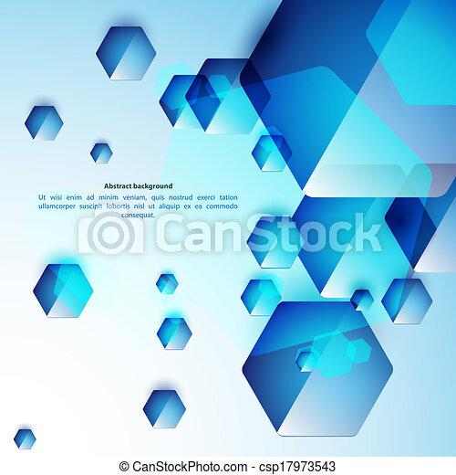 青, 使用, ビジネス, バックグラウンド。, 抽象的, ガラス, presentation., hexahedrons, あなたの - csp17973543