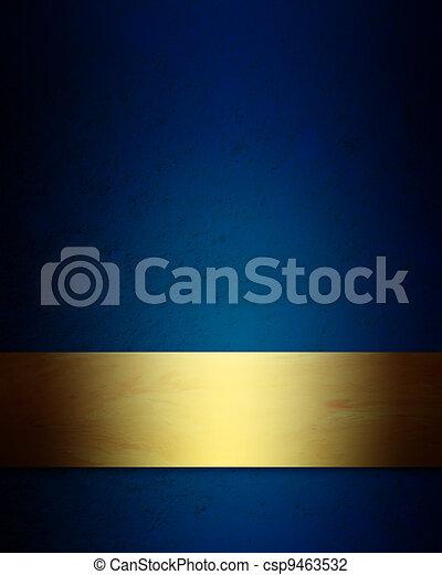 青, 優雅である, 背景, 金, クリスマス - csp9463532