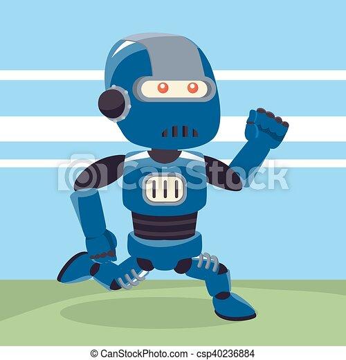 青 動くこと ロボット イラスト 青 動くこと デザイン ロボット