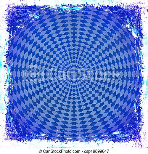 青, 古い, border., 型, 抽象的, 手ざわり, バックグラウンド。, グランジ, フレーム - csp19899647