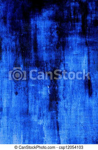 青, 古い, canvas:, 抽象的, 暗い, パターン, 背景, textured, 背景 - csp12054103