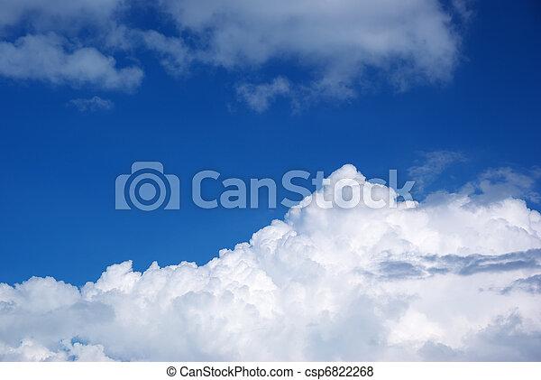 青, 大きい空, 雲 - csp6822268