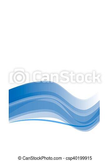青, 抽象的なデザイン - csp40199915