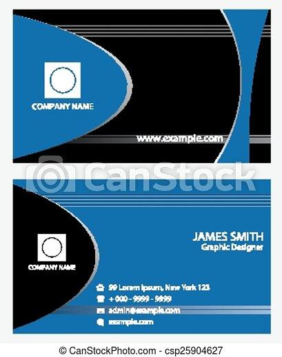 青, 抽象的なデザイン, 名刺 - csp25904627