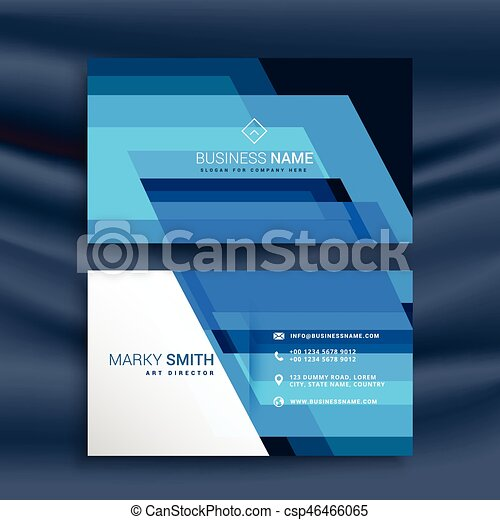 青, 抽象的なデザイン, 名刺 - csp46466065