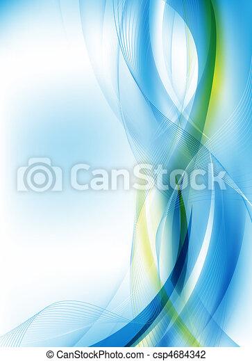 青, 抽象的なデザイン, 未来派 - csp4684342