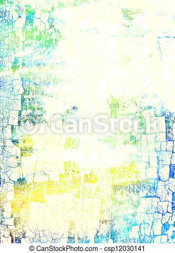 青, 抽象的, パターン, 黄色, 緑の背景, textured, 白, 背景 - csp12030141