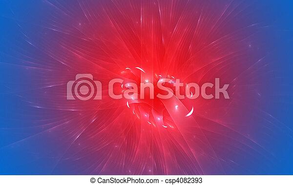 青, 抽象的, 効果, バックグラウンド。, 薄れていきなさい, 赤 - csp4082393