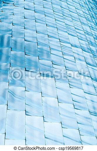 青, 抽象的, 照ること, 背景, blocks. - csp19569817