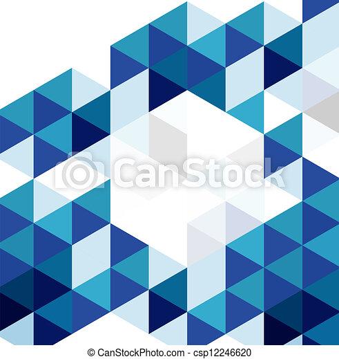 青, 抽象的, 現代, ベクトル, デザイン, 背景, 幾何学的, template. - csp12246620