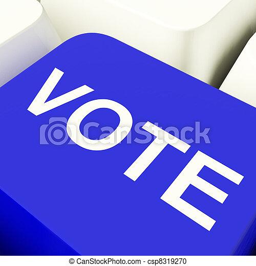 青, 提示, 選択, コンピュータのキー, 投票, オプション, ∥あるいは∥ - csp8319270