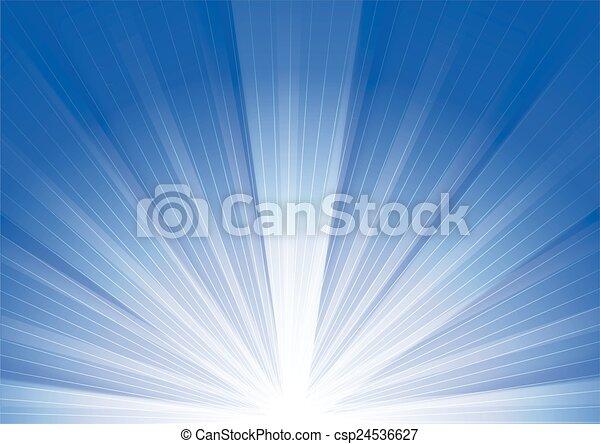 青, 日の出, 背景 - csp24536627