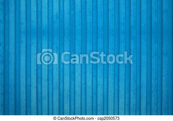 青, 木製の壁 - csp2050573