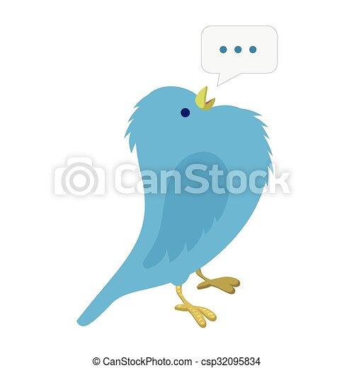 青 歌っている鳥 イラスト 青 Illustration 隔離された イラスト
