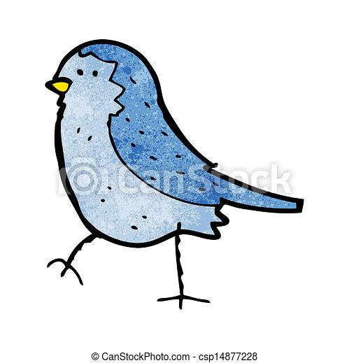 青, 漫画, 鳥 - csp14877228