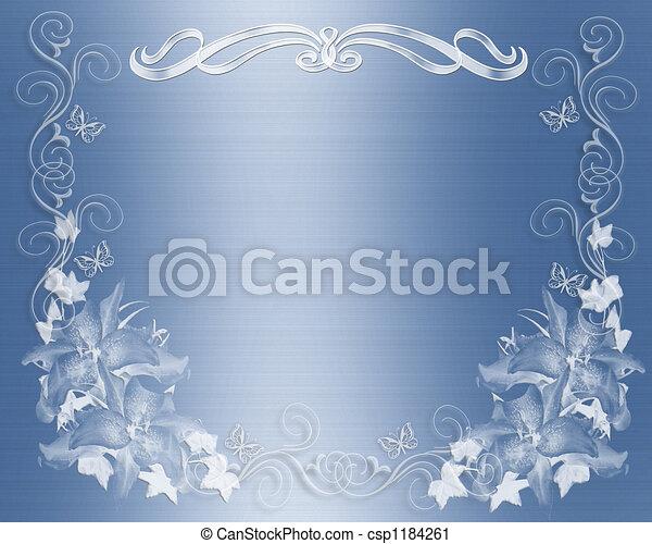 青, 結婚式の招待 - csp1184261