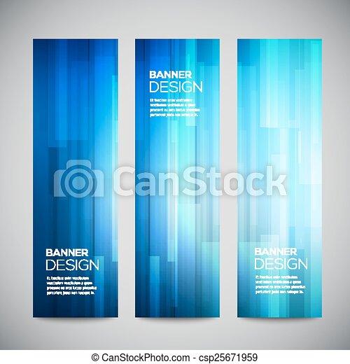 青, 網, buttons., 縦, 抽象的, lines., polygonal, バックグラウンド。, 明るい, セット, ベクトル, poly, デザイン, 旗, 要素, 低い - csp25671959
