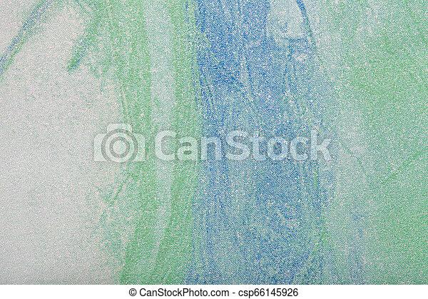 青, 芸術, キャンバス。, 抽象的, color., 多色刷り, 緑の背景, 絵 - csp66145926