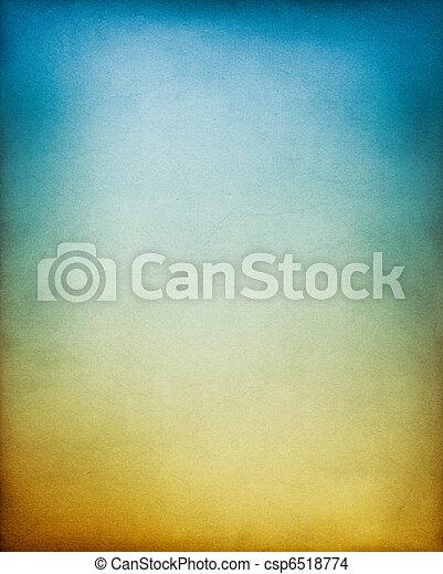 青, 茶色の 背景 - csp6518774