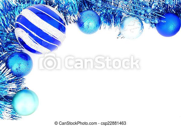 青, 装飾, ボーダー, クリスマス - csp22881463