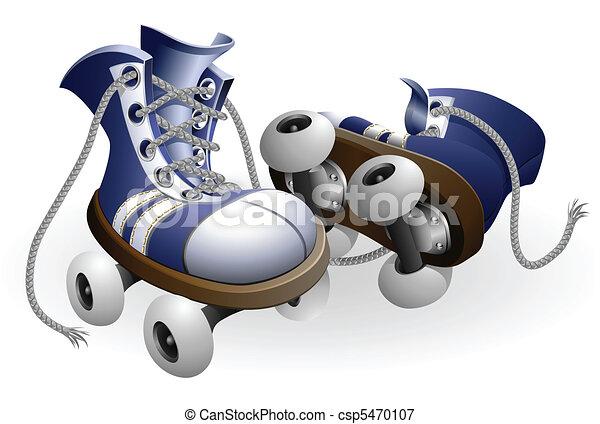 青, 解かれる, レース, ローラー スケート - csp5470107