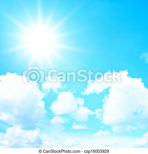 青, 雲, 空, 効果, フィルター, レトロ, 太陽 - csp16003929