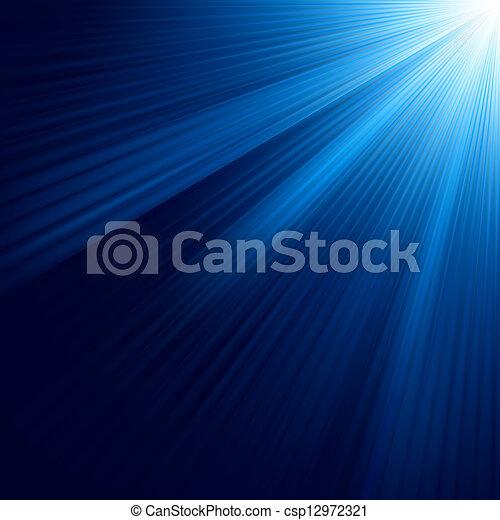 青, 8, 明るい, eps, rays. - csp12972321