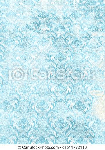 青, background:, sky-like, 抽象的, パターン, textured, 花, 白, 背景 - csp11772110
