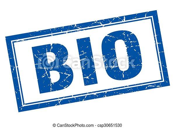 青, bio, 広場, グランジ, 切手, 白 - csp30651530