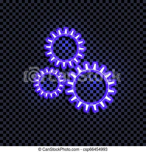 青, coorful, 明るい, ベクトル, 隔離された, 印, 暗い, 白熱, 背景, ギヤ, shadow., 透明, アイコン - csp66454993