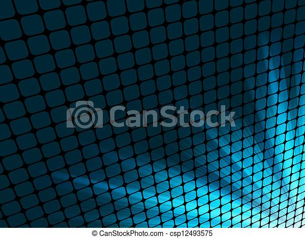 青, mosaic., 光線, ライト, eps, 8, 3d - csp12493575