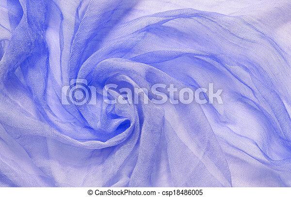 青, viscose, 生地, ひだのある布, 円 - csp18486005
