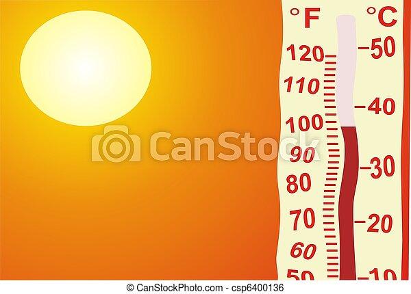 非常に, 暑い - csp6400136