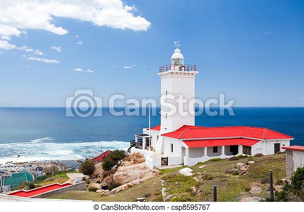 非洲, 燈塔, mossel, 海灣, 南方 - csp8595767