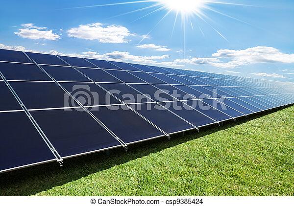 面板, 太陽, 行 - csp9385424