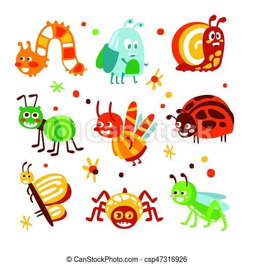 面白い カラフルである かわいい 昆虫 Set 虫 コレクション 昆虫