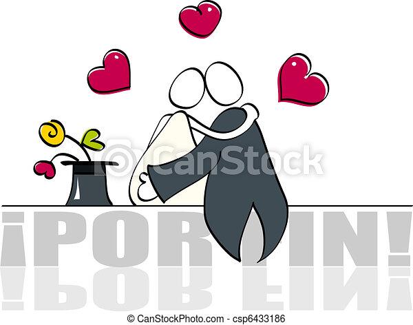 面白い, カード, 結婚式 - csp6433186