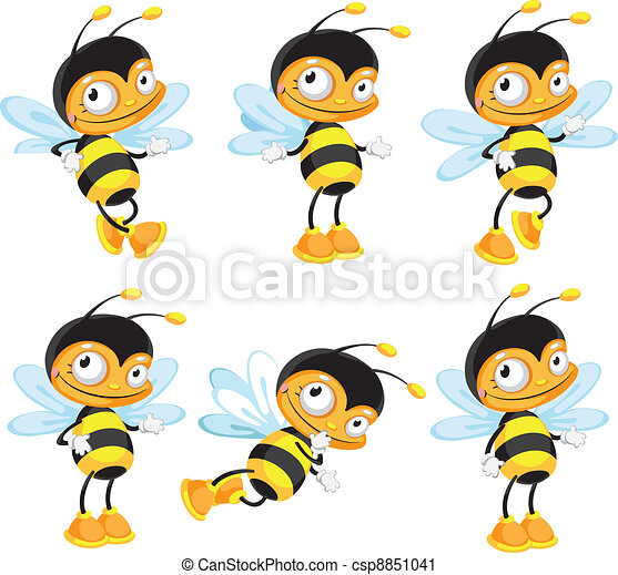 面白い, セット, 蜂 - csp8851041