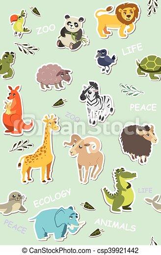 面白い 動物 壁紙 Seamless イラスト ベクトル Children