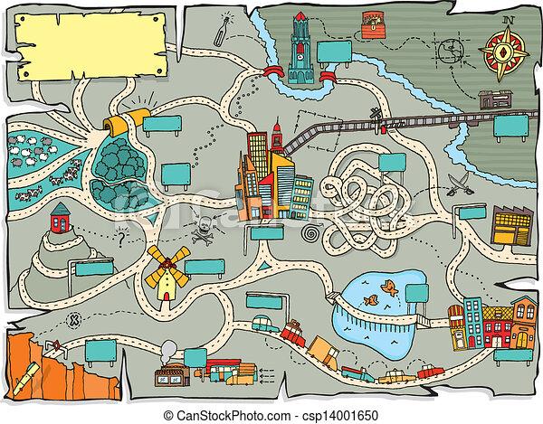 面白い, 宝物地図 - csp14001650
