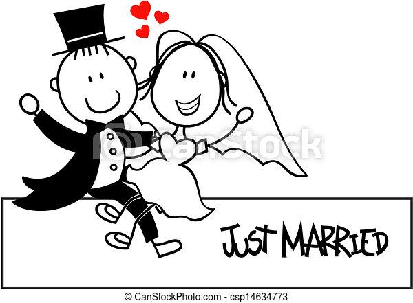 面白い, 招待, 結婚式 - csp14634773