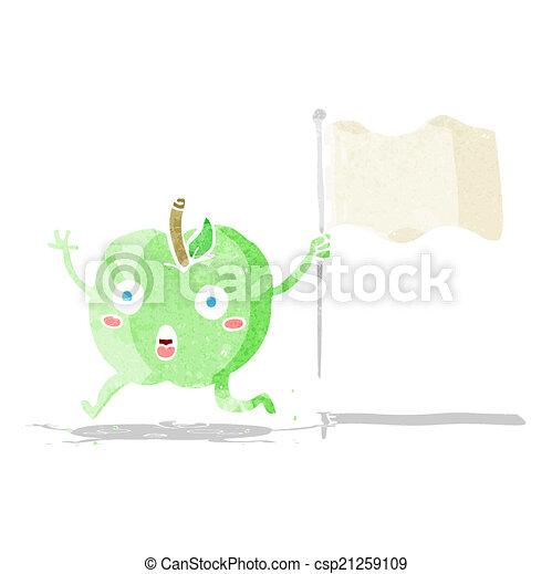 面白い, 旗, 漫画, アップル - csp21259109