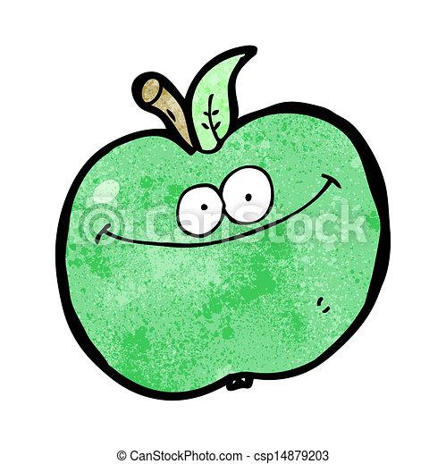 面白い, 漫画, アップル - csp14879203