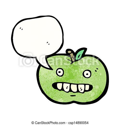 面白い, 漫画, スピーチ, アップル, 泡 - csp14890054